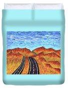 I - 15 Nevada To California Duvet Cover