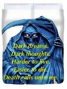 I Awoke From A Terrible Dream Duvet Cover