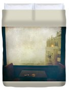 I Just Sat There Staring Out At The Fog Duvet Cover by Laurie Search