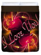 I Love You Card 2 Duvet Cover