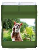 I Want Food Cat Duvet Cover