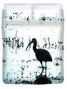 Ibis By Pintail Nature Drive Cameron Prairie Nwr La Duvet Cover