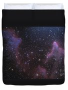 Ic 59 And Ic 63 Near Gamma Cas Duvet Cover