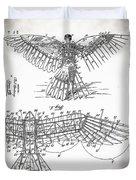 Icarus Patent 1889 Duvet Cover