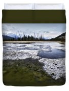 Ice And Water Vermilion Lakes Duvet Cover