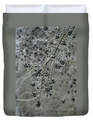 Ice- Coated Hawthorn Branch Duvet Cover