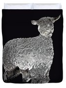 Ice Cold Lamb Carved In Ice Duvet Cover