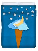 Ice Cream Design On Hand Made Paper Duvet Cover by Setsiri Silapasuwanchai
