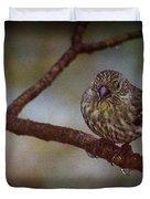 Ice Droplet Bird Duvet Cover