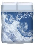Ice Floes Along The Coastline Duvet Cover