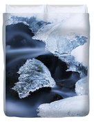 Ice Patches In Stream, Bavarian Forest Duvet Cover