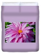 Ice Pink Dahlia Duvet Cover