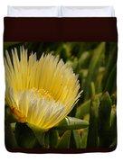 Ice Plant Bloom Duvet Cover