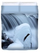 Ice Tombstone Frozen In Time Duvet Cover