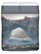 Iceberg With A Natural Arch, Antarctic Duvet Cover
