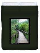 Ichetucknee Forest Pathway Duvet Cover