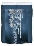 Icicle Formation Duvet Cover