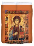Icon Of Saint Pantaleon Duvet Cover by Science Source