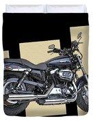 Iconic Harley Davidson Duvet Cover