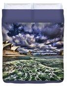 Iconic Landmarks Duvet Cover