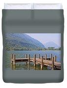 idyllic tarn in Italy Duvet Cover by Joana Kruse