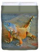 Iguana At The Restaurant  Duvet Cover