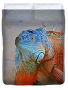 Iguana Close-up Duvet Cover