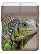 Iguana Profile Duvet Cover