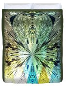Illumination Of The Glass Butterfly Duvet Cover