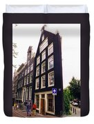 Illusion Of A Two Dimensional Building In Amsterdam Duvet Cover