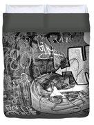 Image Of Graffiti In Edmonton Alberta Duvet Cover