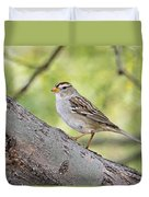 Immature White-crowned Sparrow  Duvet Cover