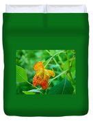 Impatiens Capensis - Orange Spotted Jewelweed Duvet Cover