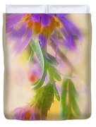 Impression Of Asters Duvet Cover