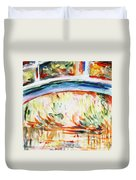 Impressions On Monet Painting Of Pond With Waterlilies  Duvet Cover