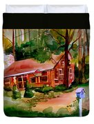 In A Cottage In The Woods Duvet Cover
