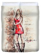 In A Moment Duvet Cover