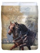 In Double Harness. Illustration By Lucy Duvet Cover