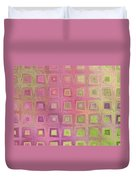 In The Pink With Squarish Squares  Duvet Cover