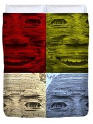 In Your Face In Colors Duvet Cover