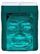 In Your Face In Neagtive Turquois Duvet Cover