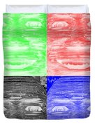 In Your Face In Negative Colors Duvet Cover
