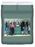 Inauguration Of George Washington, 1789 Duvet Cover