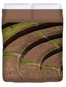 Inca Crop Terraces At Moray Duvet Cover