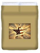 Independence Day Stary American Flag Duvet Cover