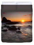 Indian Beach Sundown Duvet Cover