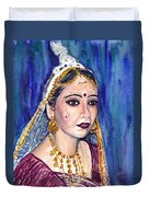 Indian Bride  Duvet Cover