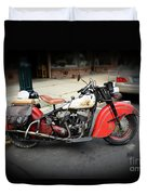 Indian Chief Motorcycle Rare Duvet Cover