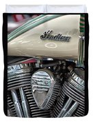 Indian Motorcycle Engine Duvet Cover