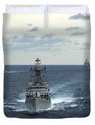Indian Navy Corvette Ship Ins Kulish Duvet Cover